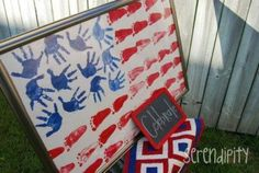 Happy 4th of July! Great project for kids to make and super easy! #July4th