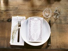 Kinfolk dinner menu