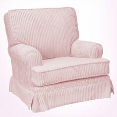 pink upholstered glider rocker