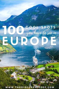 100 unmissable Europe travel destinations for the ultimate Europe bucket list. The best Europe travel tips and ideas for your trip I Places to visit in Europe I Europe road trip I European cities I Winter I Summer I Culture I Italy I Spain I France I Culture I Europe Places #travel #europe #bucketlist
