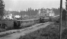 The first Vancouver Exhibition opened at Hastings Park in Here the Powell Street streetcar arrives at the opening. The city& streetcar line was extended this far east especially for the fair. Photo by James L. City of Vancouver Archives CVA Vintage Pictures, Old Pictures, Old Photos, Powell Street, Seymour, Canadian History, Most Beautiful Cities, Historical Pictures, Vancouver Island