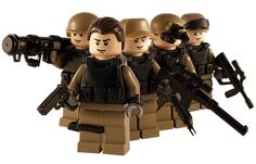 Task Force - 5 Man Squad - Custom Lego Figure