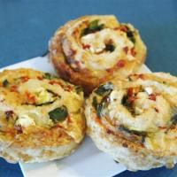 Wobbly Goat Cafe's spinach and feta pinwheel scones. Photo by Linda Robertson.