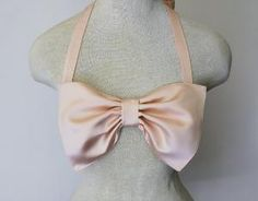 Ballet Pink Satin Bow Bandeau