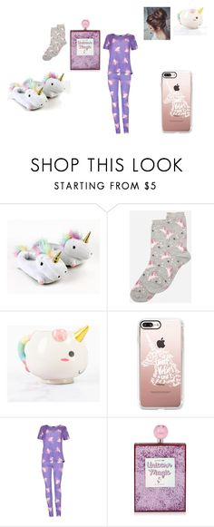 """""""Unicorn pajamas"""" by harleyquinn123-dcxx ❤ liked on Polyvore featuring Dorothy Perkins, Elodie, Casetify and Boohoo"""
