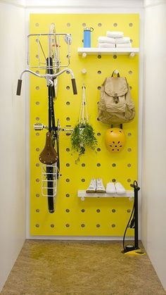 12 Pegboard Storage Wall for Craft Rooms, Offices or Garages - craft room storage - Craft Room Storage, Pegboard Storage, Laundry Room Storage, Garage Storage, Bedroom Storage, Diy Storage, Bike Wall Storage, Ikea Pegboard, Kitchen Pegboard