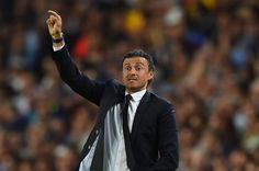 Luis Enrique the head coach of Barcelona directs his players during the UEFA Champions League Semi Final, first leg match between FC Barcelona and FC Bayern München at Camp Nou on May 6, 2015 in Barcelona, Catalonia.
