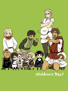 Hetalia- Young!France,Spain with Little!England,Austria,Prussia,Hungary,Switzerland,Holy Romano Empire,Italy,Romano and Germania,Grandpa Rome