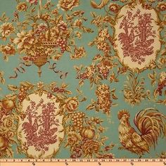 Waverly-Rendezvous-Robins-Egg-Blue-Rooster-Toile-Fabric-BTY