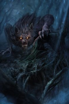 красивые картинки,вампир,оборотень,Fantasy,Fantasy art,art,арт
