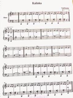 Özel Piyano Dersi: Kalinka Piyano Notaları