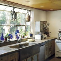 Tatjana Patitz's Ranch | Touches of Blue, Rustic Cook's Kitchen