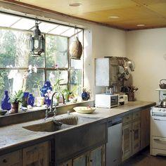 Galley kitchen   Take a a tour around supermodel Tatjana Patitz's Californian ranch   house tours   housetohome