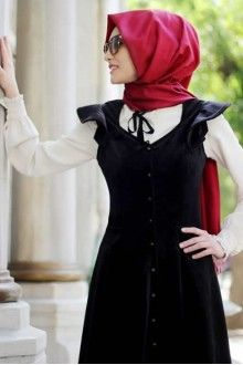 Prenses Kadife Elbise - Siyah