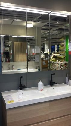 Like this sink and mirror from ikea
