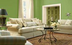 grüne-farbe-für-die-wand-im-wohnzimmer.jpg (600×376)