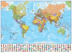 High resolution world map pdf bing images pinterest world 130 wall map laminated educational poster gumiabroncs Choice Image