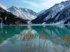 Changing Colors of Big Almaty Lake