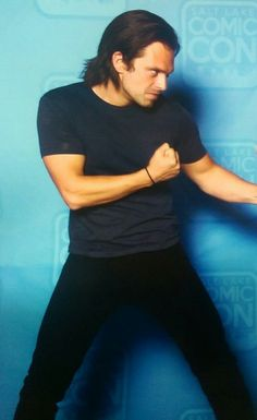 "asiacheetah: ""Sebastian Stan did not skip leg days. Hair. Biceps. Thighs. Woman down! """
