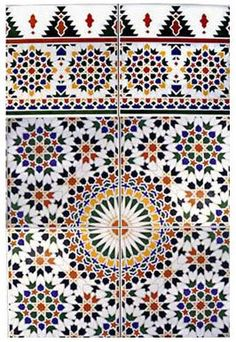 """Moroccan Tile in """"Tangier""""."""