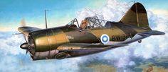 Brewster B-239 Buffalo Finnish Air Force postwar, by Shigeo Koike