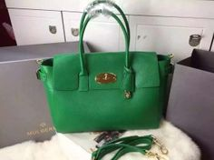 Mulberry Spring Summer 2015 Catwalk Collection Outlet UK-Mulberry Bayswataer Buckle Bag Green