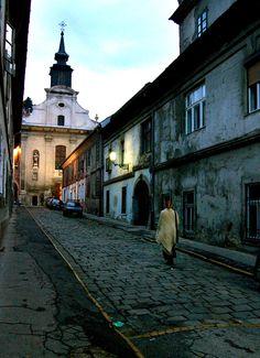 Dusk in Novi Sad, Serbia