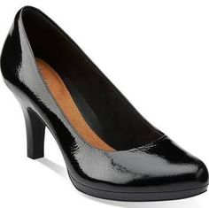 0ede90d658d Tempt Appeal Black Patent Leather - Clarks Womens Shoes - Womens Heels and  Flats - Clarks - Clarks® Shoes