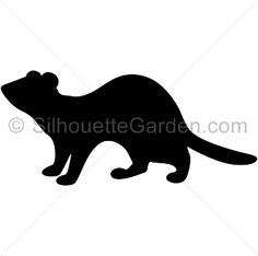 ferret standing silhouette car decal sticker ferretses and goodies rh pinterest com ferret clipart cartoon ferret clipart
