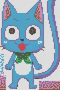 pixel art en perle hama: manga