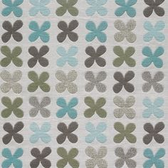 Architectural Materials // Quatrefoil by Alexander Girard, 1954 in color 001 Silver, textile, available via Maharam