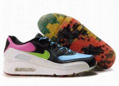 super popular d80f0 447c4 Ken Griffey Shoes Nike Air Max 90 Black White Light Blue Violet  Nike Air  Max 90 - Rainbow rubber bottom and colorful upper enable the Nike Air Max  90 Black ...