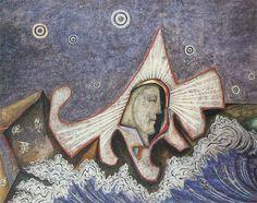 The Voice . oil on board . 21.9 x 52.4 cm . 1938 . Cecil Collins . 1908 - 1989