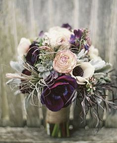 Marsala, pink and white bouquet