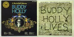 Buddy Holly LP Vinyl Record Lot of 2:  A Rock & Roll Collection + Lives
