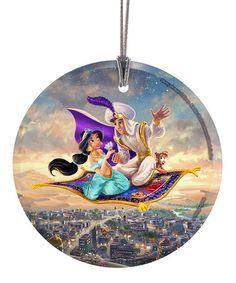 Look what I found on #zulily! Princess Jasmine & Aladdin Carpet Ride Glass Ornament #zulilyfinds