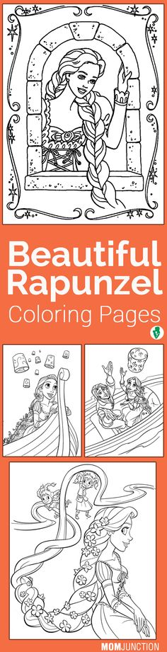 15 Beautiful Rapunzel Coloring Pages For Your Little Girl
