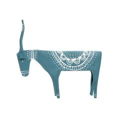 Debenhams Dark blue painted metal elk- at Debenhams.com