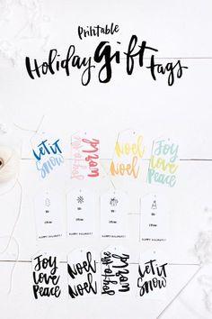 Printable Holiday Gift Tags - Verily Mag