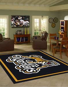 Area Rug Features: -High Quality heavy woven polyester fabric -Chevron Texture & hemmed edges -Professionally printed -Team Color -Made in the U.A Custom Area Rugs Also available: Business logo Custom Area Rugs, Mississippi State Bulldogs, Cat Room, Room Rugs, Interior And Exterior, Interior Decorating, Rug Features, Garage Ideas, Business Logo