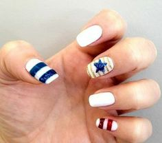 Fourth of July-Inspired Nail Art
