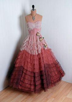 1950's vintage dress  ~