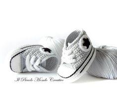 Zapatos Converse All Star del ganchillo del bebé regalo