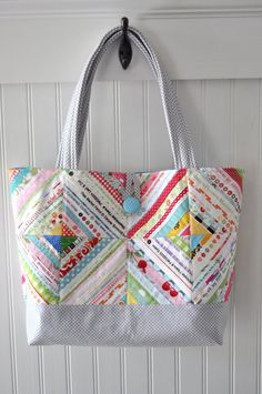 The Market Tote Selvage or Charm Square Friendly Pattern, $8.00 Purchased