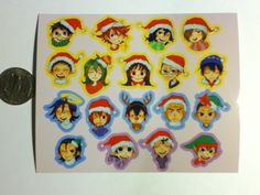 4x5 vinyl sticker sheet 18 kiss cut stickers per sheet each sticker is about 1 inch in length  Sohoku + Miki, Teshima, and Aoyagi Hakogaku Kyofushi (Midousuji, Ishigaki, and Mizuta)
