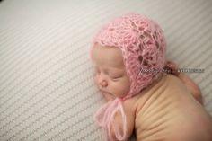 Crochet Baby Girl Dainty Lace Mohair Angora
