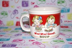 Vintage Campbell's Soup Mug 1989 by mandtsimplyvintage on Etsy, $5.00