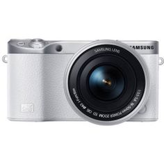 Samsung NX500 Interchangeable Lens Camera with 16-50mm Power Zoom Lens & Flash 28.2MP 3' Super AMOLED with Touch Screen Wi-Fi/Bluetooth/HDMI/USB 2.0 White