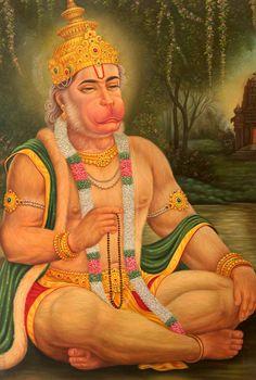 Oil Paintings: Indian Oil Paintings & Oil On Canvas Hanuman Photos, Hanuman Images, Hindu Deities, Hinduism, Shri Hanuman, Gods And Goddesses, Indian Art, Religion, Princess Zelda