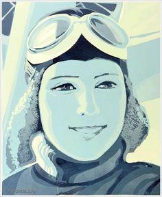 Кисель Елена Филлиповна (Россия, 1959) «Женщина-пилот» 1980